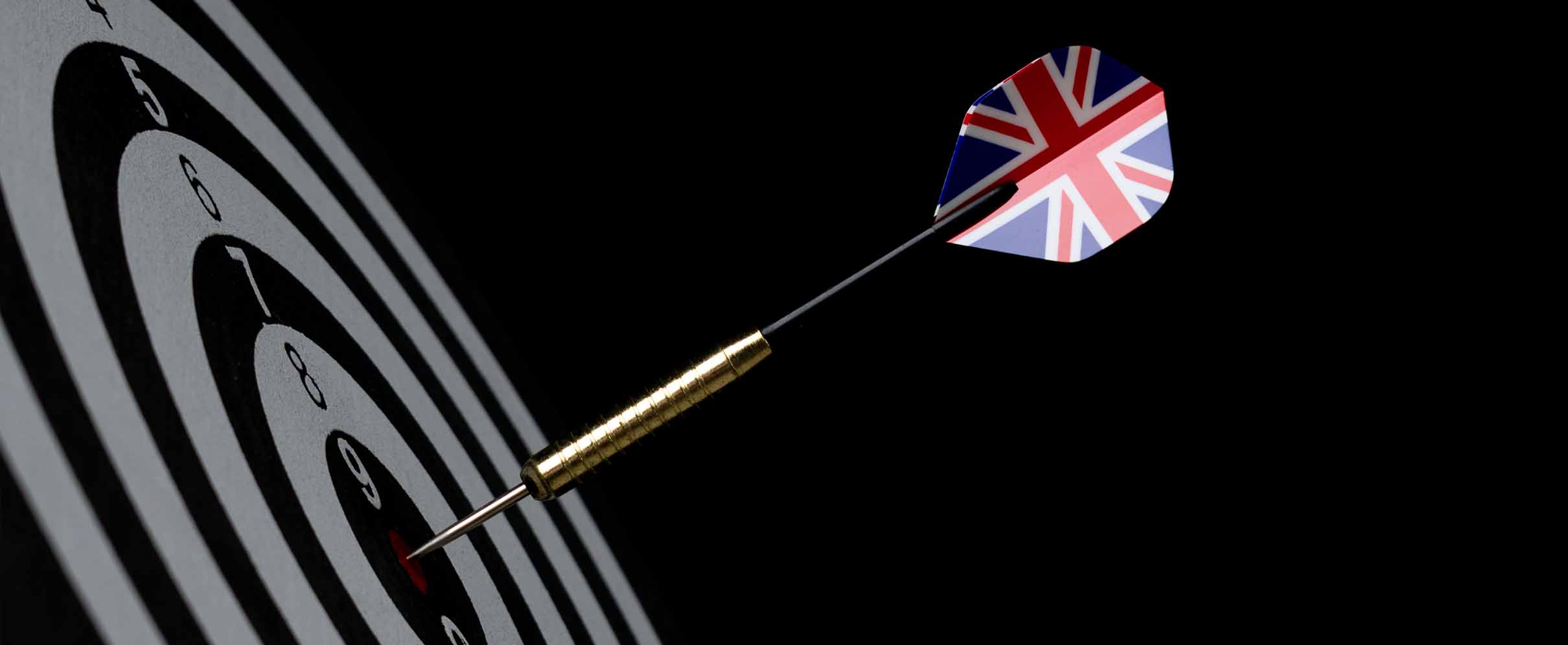 A dart with the British flag on its tail.