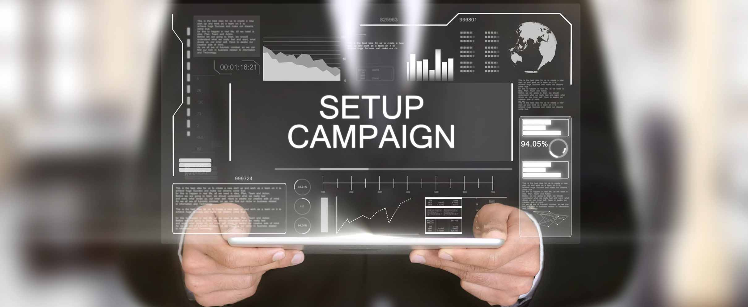 Quickly set up new campaigns with the Business Manager.